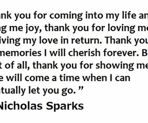 let go, nicholas sparks, and quotes image