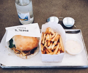 burger, fries, and lunch image
