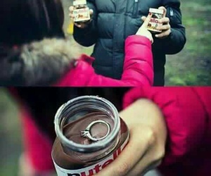 nutella, lové, and couple image