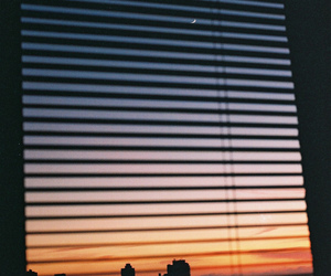 sky, window, and sunset image