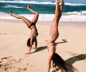 beach, summer, and girls image