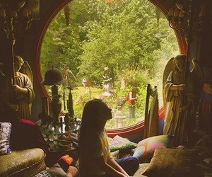 girl, nature, and room image