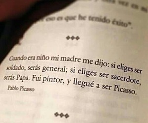 picasso, frases, and book image