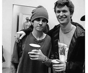 justin bieber and ansel elgort image