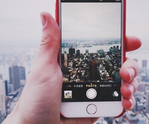 city, iphone, and photo image
