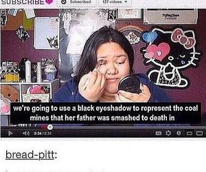 funny, makeup, and tumblr image