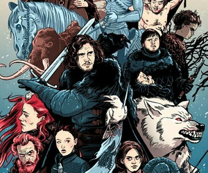 game of thrones, art, and stark image