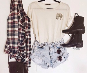outfit, boots, and converse image