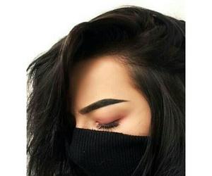 makeup, hair, and eyebrows image