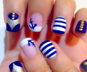 anchor, beautiful, and blue image
