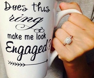 engaged and ring image