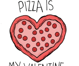 overlay, pizza, and love image