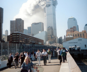 black and white, 9 11, and new york image
