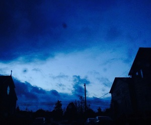 blue, sky, and grunge image
