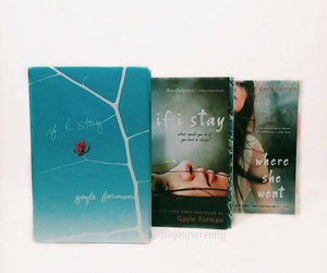 books, if i stay, and where she went image