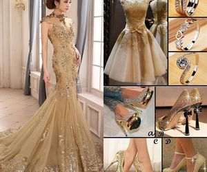beauty, evening dress, and fashion image