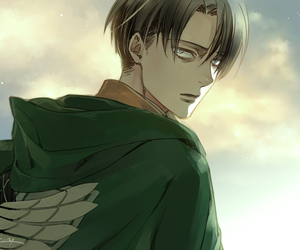 snk, levi, and attack on titan image