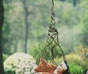 garden, nature, and swing image