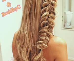 blonde, braids, and fairytale image