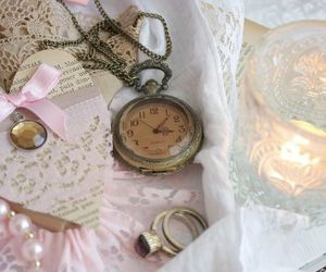 vintage, lace, and shabby chic image