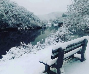 winter, snow, and Serbia image