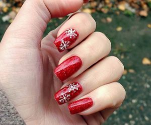 christmas, red, and snowflakes image