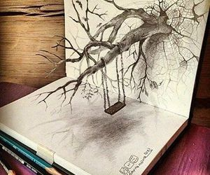 tree, art, and draw image