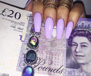 lila, nails, and purple image