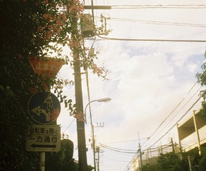 japan, signs, and street image
