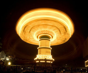 carousel and long exposure image