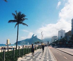 rio de janeiro, beach, and blue image