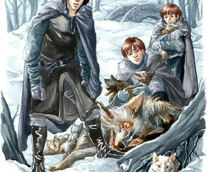 art, jon snow, and a song of ice and fire image