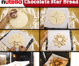 diy, nutella, and star image