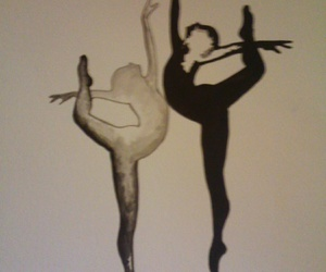balet, blackandwhite, and dance image