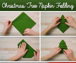 christmas, diy, and napkin image