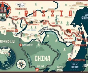 asia, map, and russia image