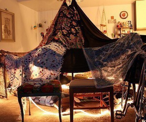 fort, blanket fort, and blanket image