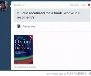 funny, lol, and book image