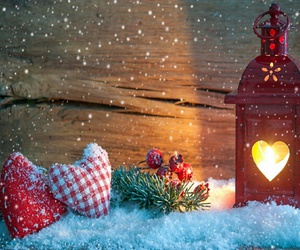 christmas, heart, and snow image