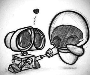 love, wall-e, and disney image