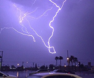 purple, grunge, and lightning image