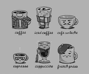 coffee, cappuccino, and funny image