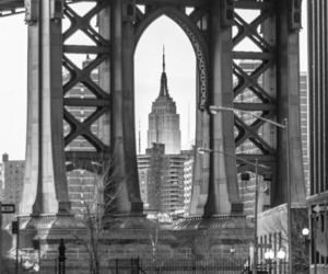 black and white, new york, and city image