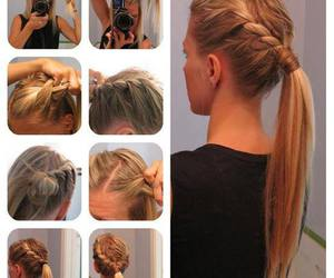 diy, hair, and hairstyle image