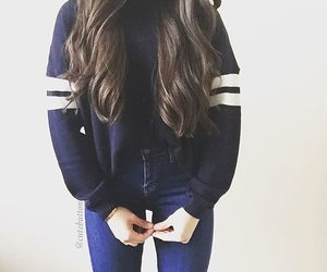 blue, jeans, and outfits image