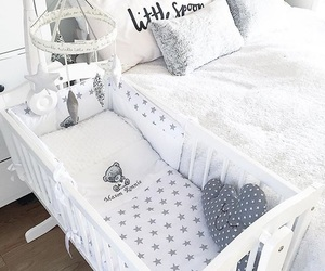 baby, cot, and nursery image