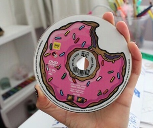 donuts, cd, and tumblr image