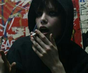 Alice Glass, cigarette, and Crystal Castles image