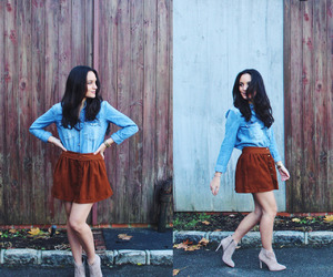 booties, outfit, and suede image
