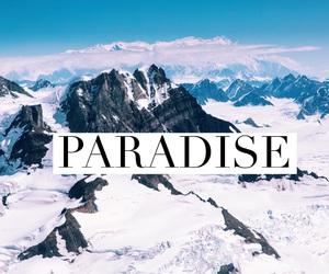paradise, ski, and snowboard image